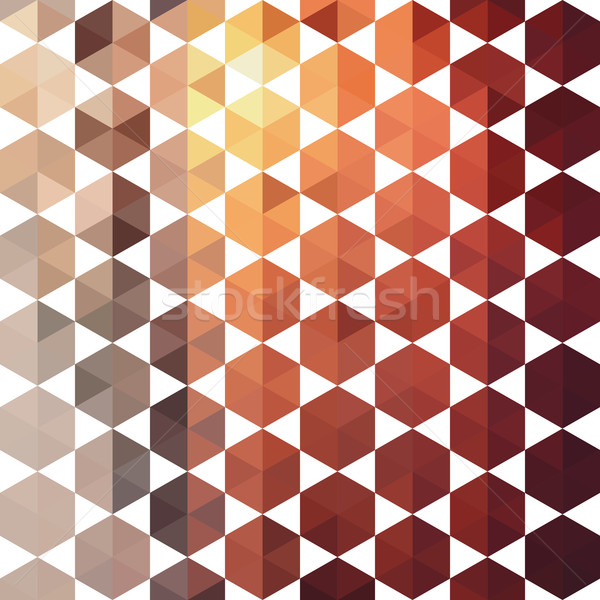 Retro pattern of geometric shapes Stock photo © LittleCuckoo