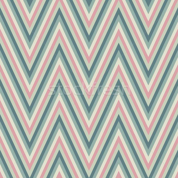 Vintage zigzag patrón fondo sin costura textura Foto stock © LittleCuckoo