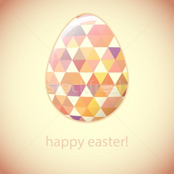 イースターエッグ 色 卵 幾何 ミニマリズム スタイル ストックフォト © LittleCuckoo