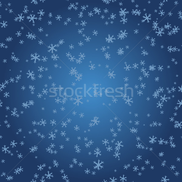 Snowflakes on blue gradient Stock photo © LittleCuckoo