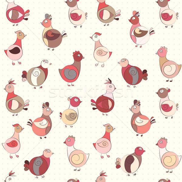 Abstract Turchia uccello pollo piccione uccelli Foto d'archivio © LittleCuckoo