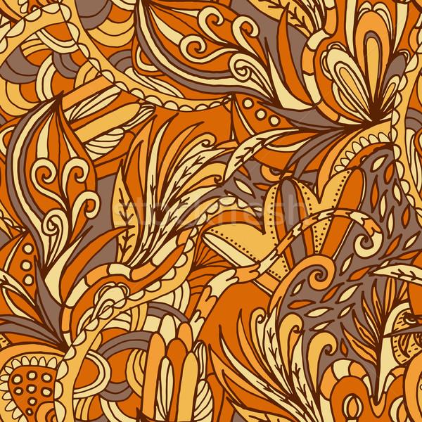 抽象的な 波 フローラル パターン フローラ いたずら書き ストックフォト © LittleCuckoo