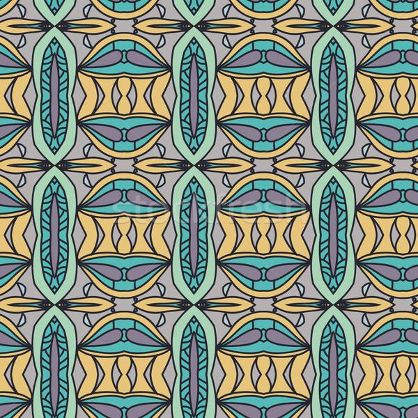 Abstrato sem costura ornamento padrão caleidoscópio efeito Foto stock © LittleCuckoo