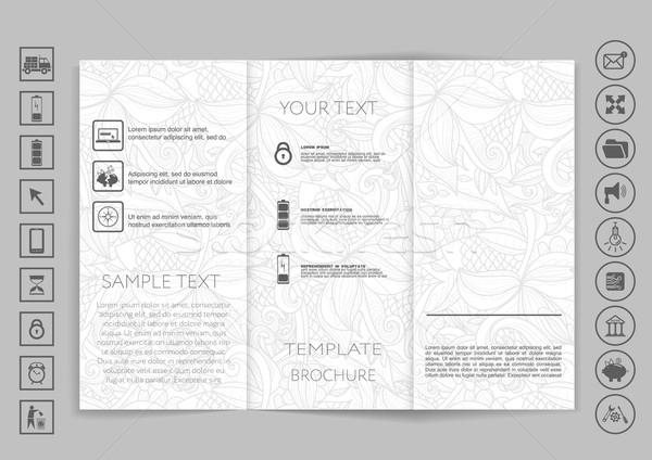 Tri-Fold Brochure mock up vector design Stock photo © LittleCuckoo