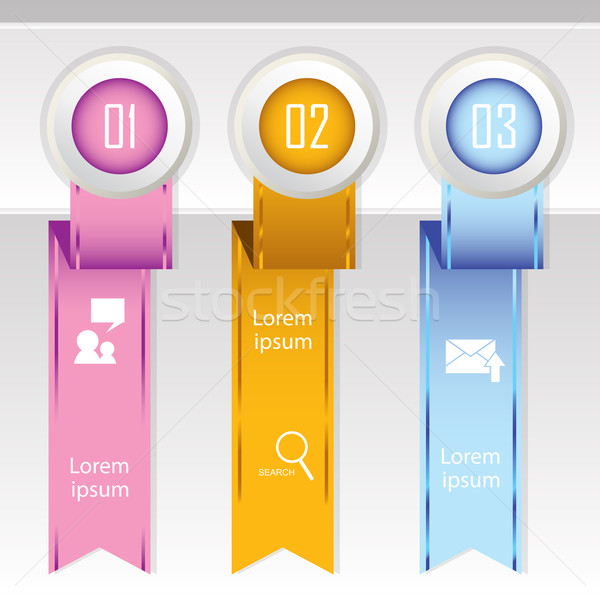 Colorful banner ribbon. Element  for infographic Stock photo © LittleCuckoo