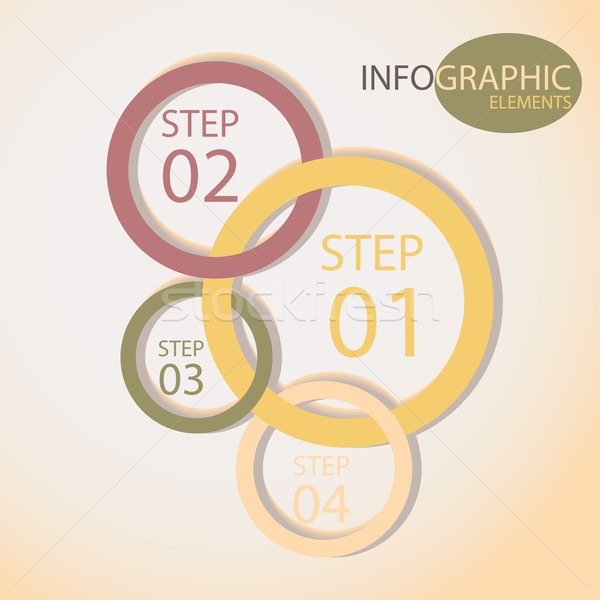 Stock photo: Circle  style options banner