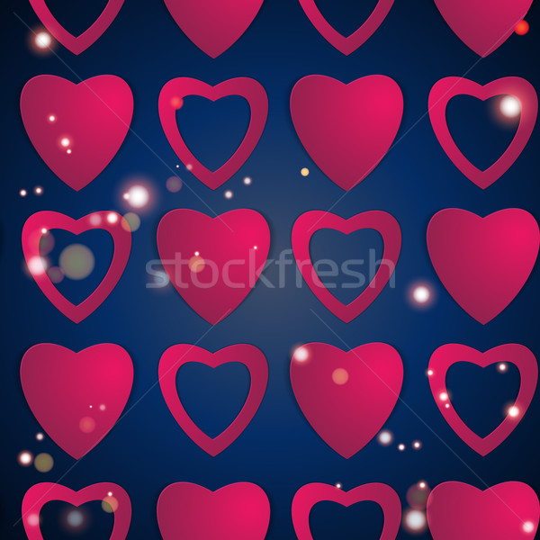 Valentines day. Abstract paper hearts. Love. Valentine background with hearts Stock photo © LittleCuckoo