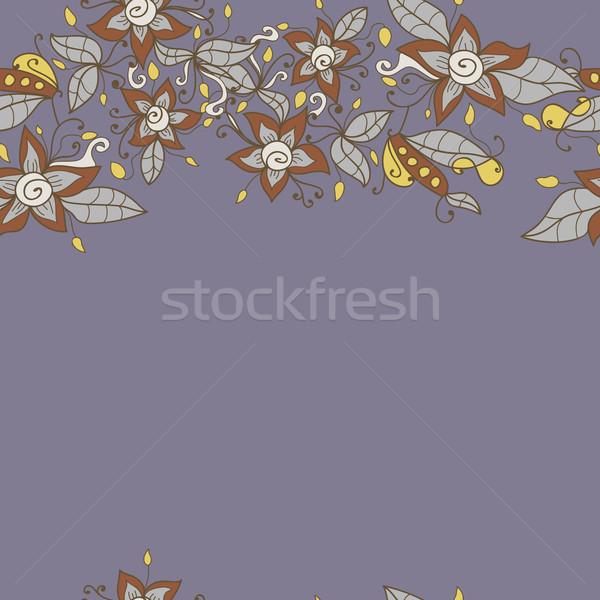 Absztrakt virágminta vektor végtelenített textúra virág Stock fotó © LittleCuckoo