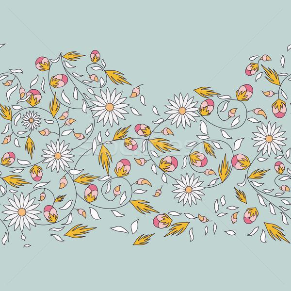 Napraforgó virág végtelenített textúra nap természet Stock fotó © LittleCuckoo
