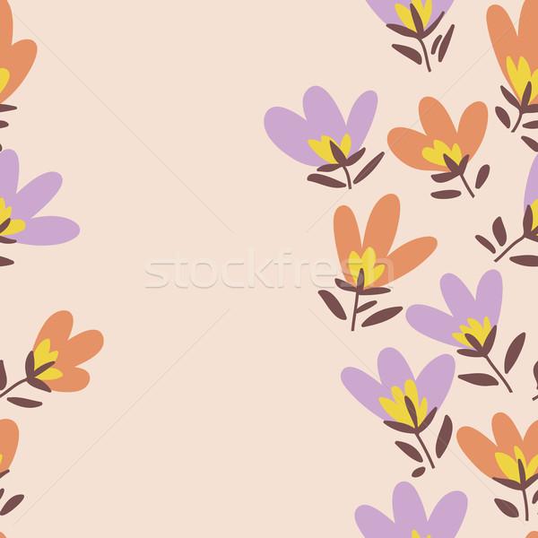 Modello di fiore primavera vettore doodle floreale pattern Foto d'archivio © LittleCuckoo