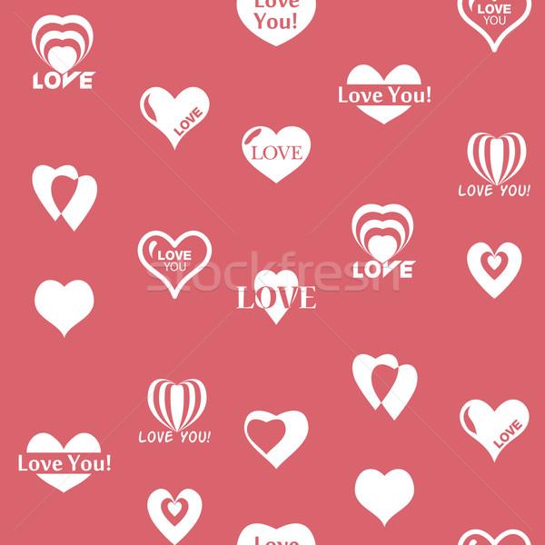 Kalp model sevgililer günü doku kalpler Stok fotoğraf © LittleCuckoo