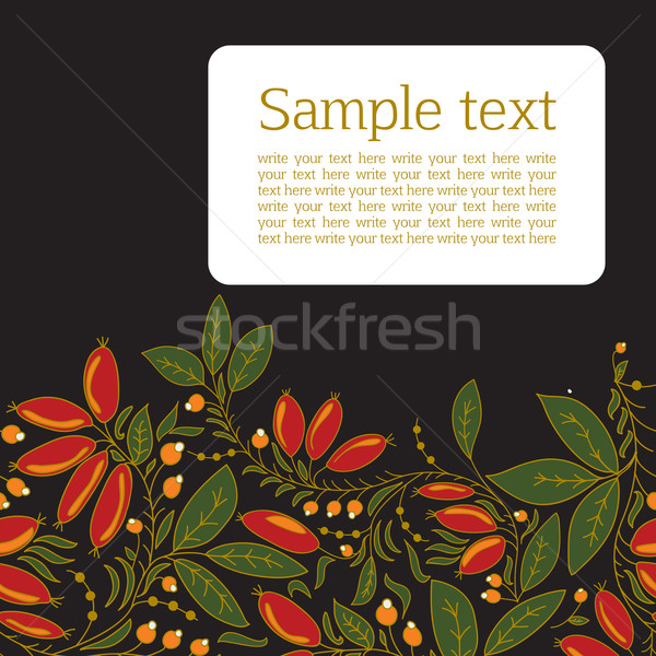 Card with the image of barberry Stock photo © LittleCuckoo