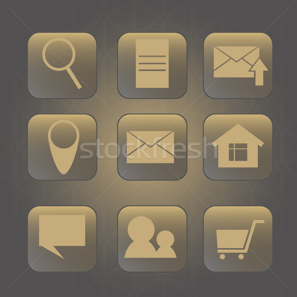 icon for internet. web background with triangles Stock photo © LittleCuckoo