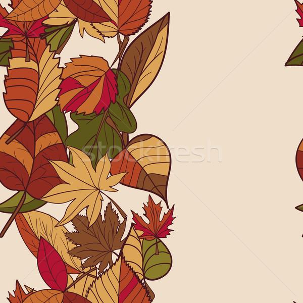 Foto stock: Outono · padrão · vermelho · amarelo · folhas · verdes