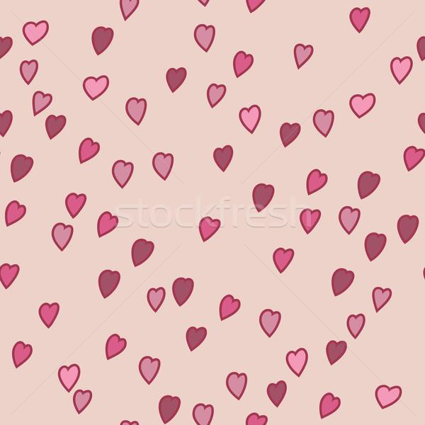San valentino pattern cuori texture sorriso design Foto d'archivio © LittleCuckoo