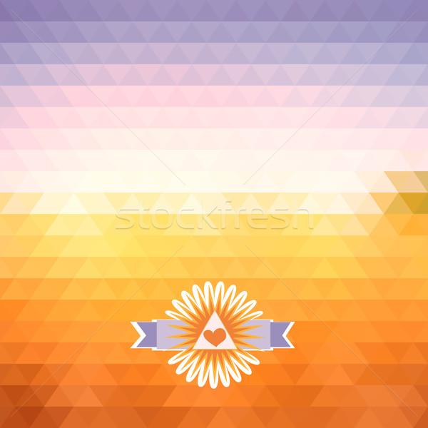 Yanılsama şafak soyut parlak geometrik Stok fotoğraf © LittleCuckoo