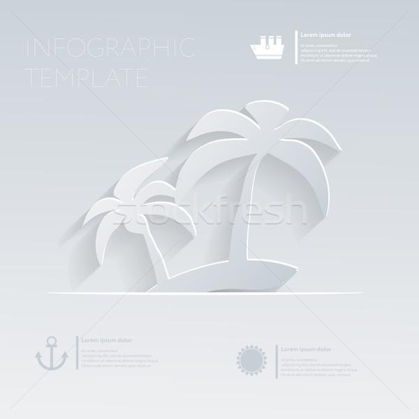 Zdjęcia stock: Wyspa · palm · wakacje · szablon · stronie