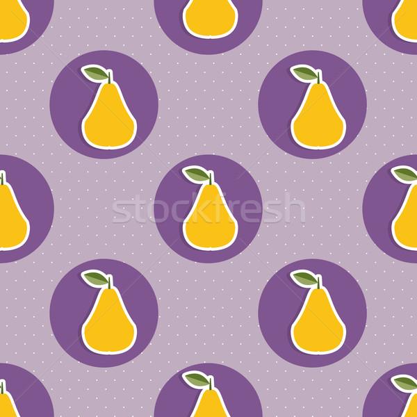 Pera pattern senza soluzione di continuità texture maturo pere Foto d'archivio © LittleCuckoo