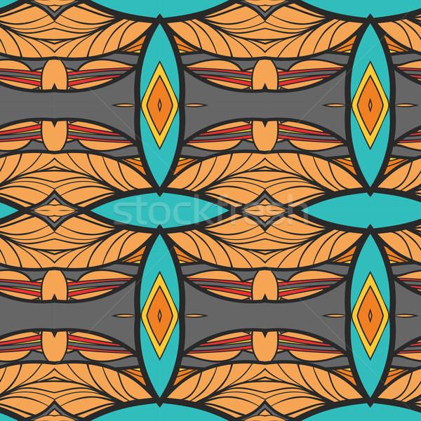 Abstrato ornamento padrão caleidoscópio efeito sem costura Foto stock © LittleCuckoo