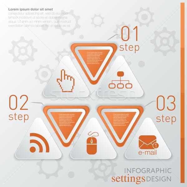 Modelo tecnologia ícone passos site Foto stock © LittleCuckoo
