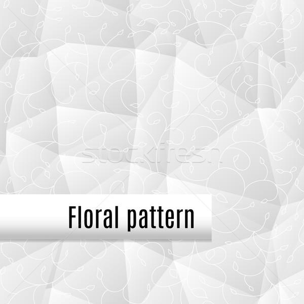 Disegno geometrico floreale ornamento bianco computer luce Foto d'archivio © LittleCuckoo