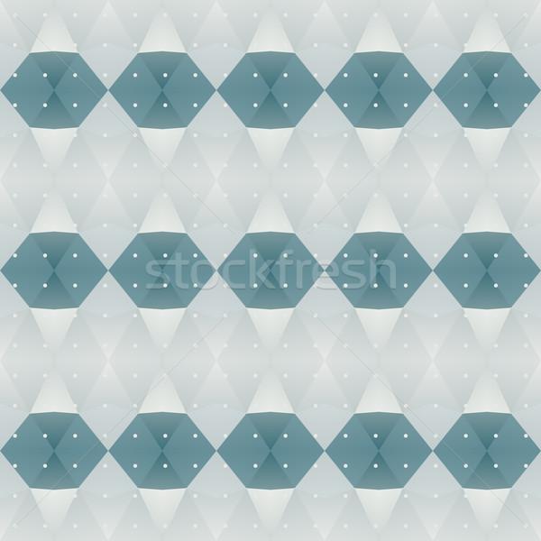 Blue polygon background Stock photo © LittleCuckoo