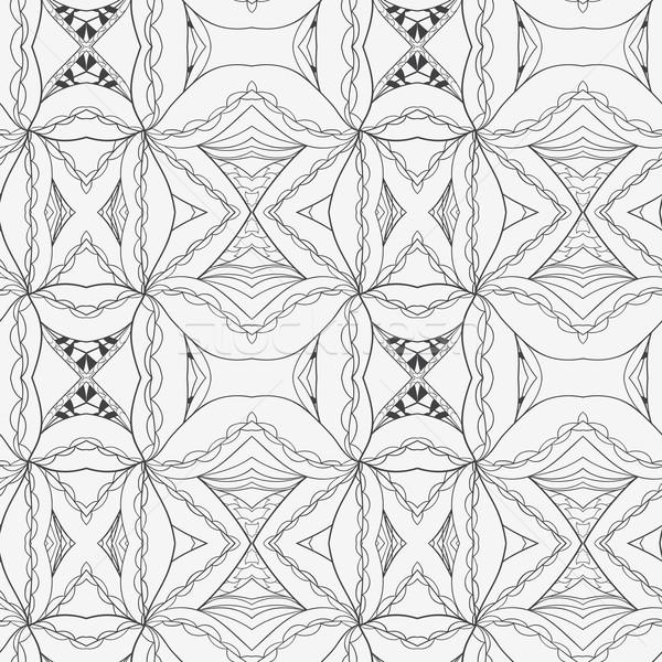 Abstract seamless ornament pattern. the kaleidoscope effect. Ethnic damask motif Stock photo © LittleCuckoo