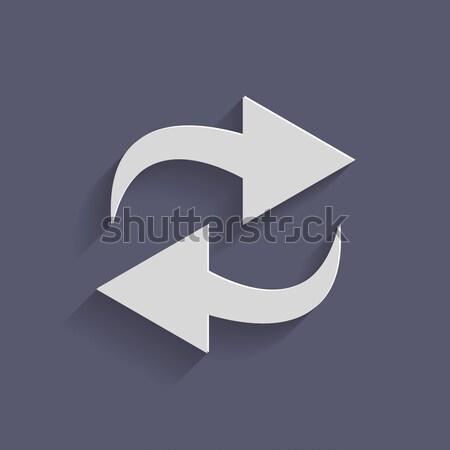 Actualizar círculo azul icono sombra signo Foto stock © LittleCuckoo