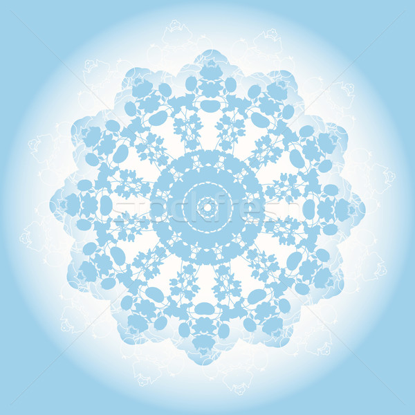 abstract blue lace doily Stock photo © LittleCuckoo