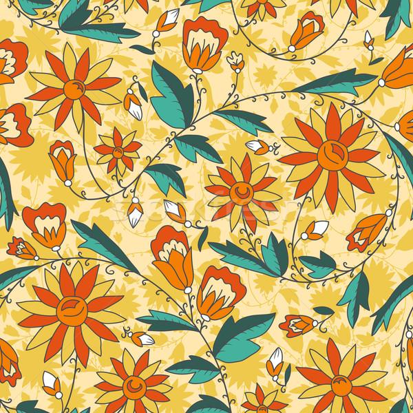 Senza soluzione di continuità texture fiori floreale pattern Foto d'archivio © LittleCuckoo