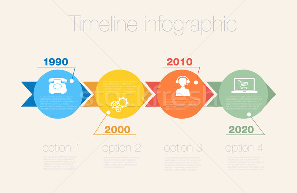 Timeline Infographic. Vector design template. Stock photo © LittleCuckoo