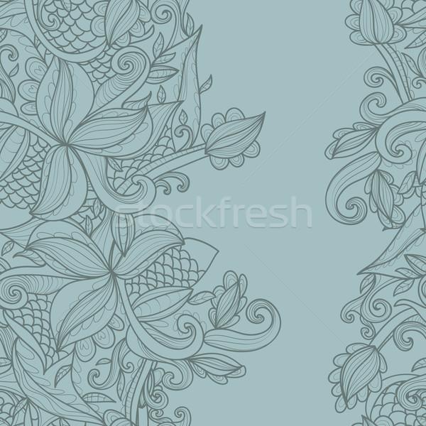 Fronteira abstrato padrão ornamento primavera moda Foto stock © LittleCuckoo