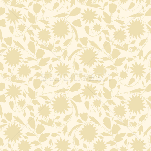 beige floral wallpaper Stock photo © LittleCuckoo
