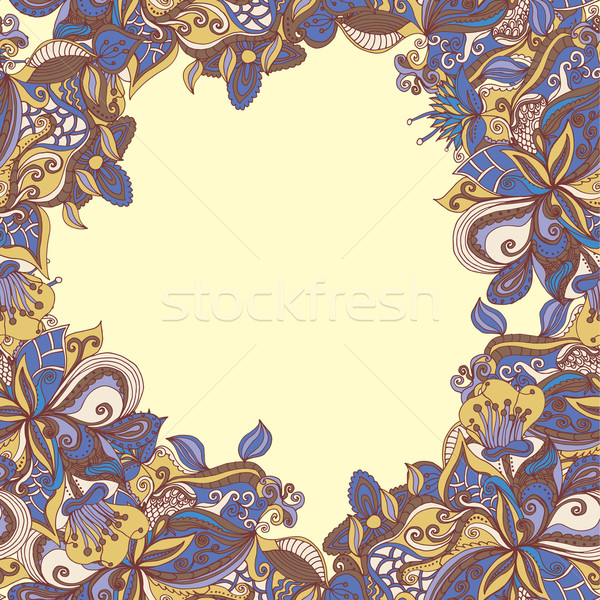 abstract hand-drawn pattern. seamless doodle texture Stock photo © LittleCuckoo