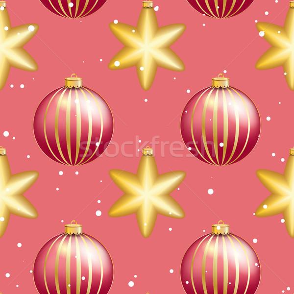 Capodanno pattern Natale palla bokeh lucido Foto d'archivio © LittleCuckoo