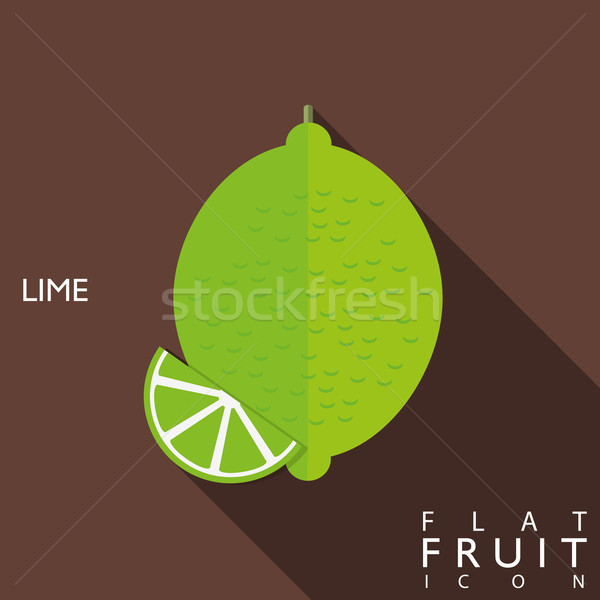 Limes flat icon illustration with long shadow Stock photo © LittleCuckoo