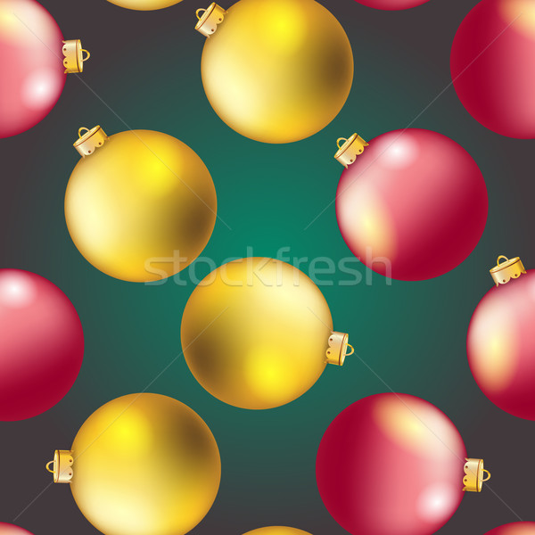 New Year pattern with Christmas ball. Sparkles and bokeh. Shiny and glowing Stock photo © LittleCuckoo