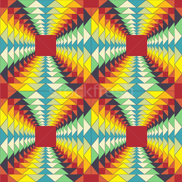 Geometrisch patroon fractal illusie abstract gekleurd kleurrijk Stockfoto © LittleCuckoo