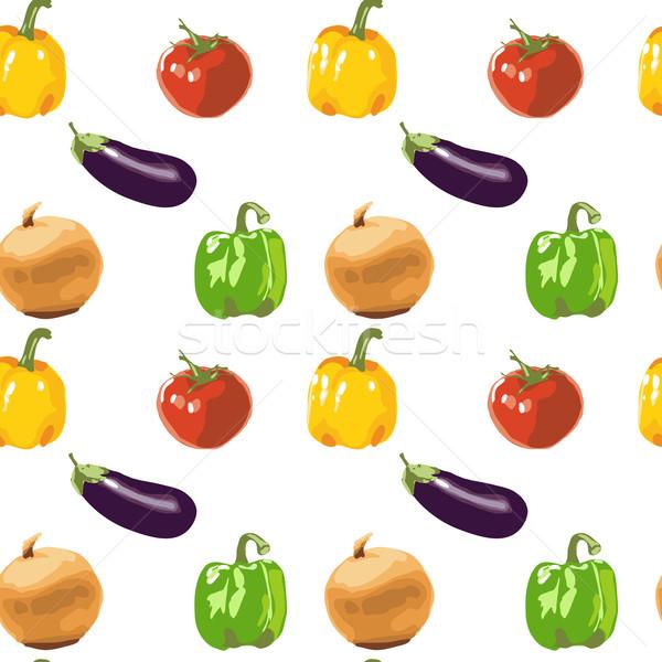 Stok fotoğraf: Sebze · doku · soğan · biber · domates