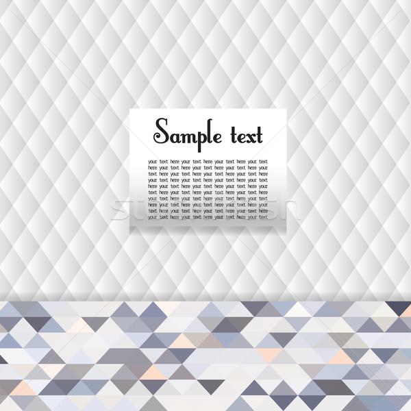 Disegno geometrico bianco colore triangolo colorato spazio Foto d'archivio © LittleCuckoo