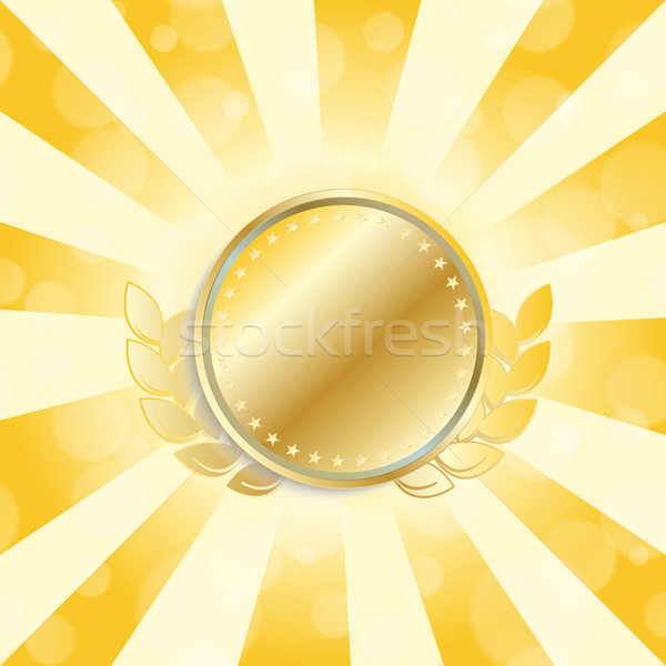 Stock photo: gold medal coin