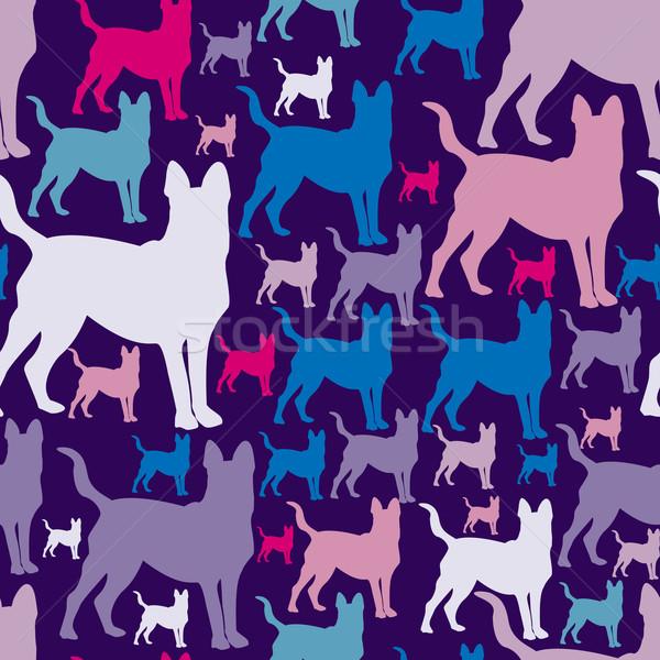 шаблон собаки бесшовный текстуры можете используемый Сток-фото © LittleCuckoo