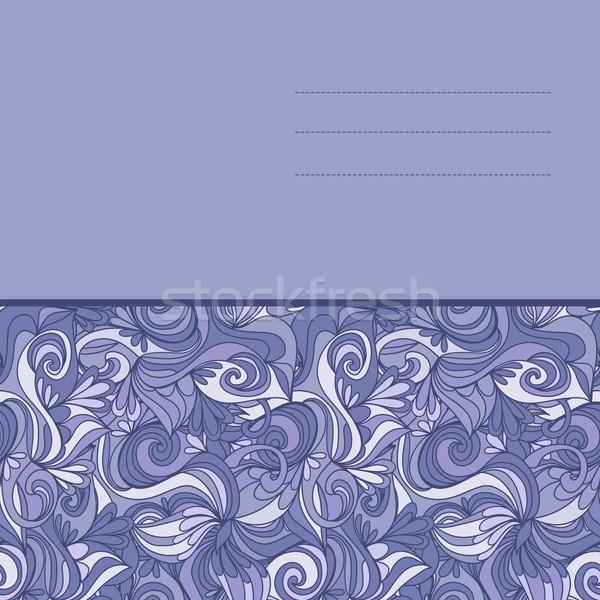 Kaart abstract golven patroon golvend Stockfoto © LittleCuckoo