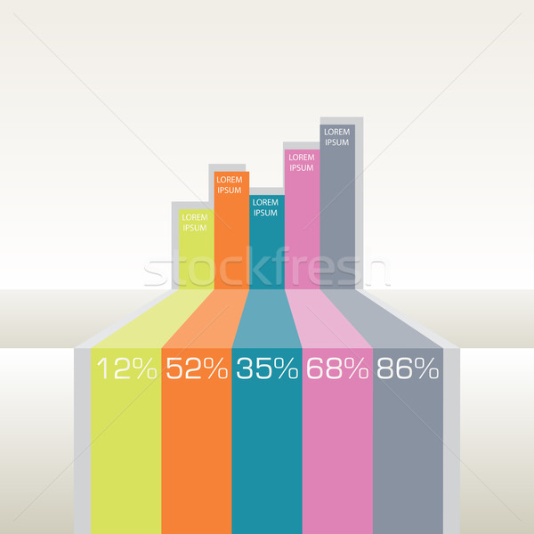 Minimalny infografiki wektora elementy grafiki internetowych Zdjęcia stock © LittleCuckoo