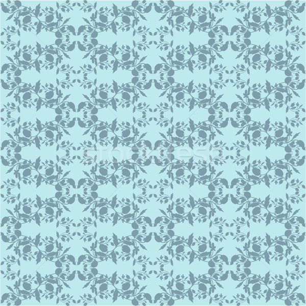 Neutral azul planta wallpaper floral ornamento Foto stock © LittleCuckoo