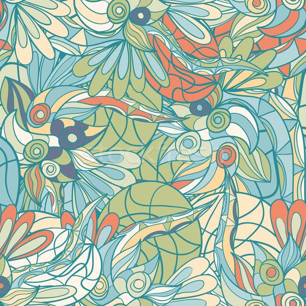 シームレス 抽象的な 波 パターン 波状の 壁紙 ストックフォト © LittleCuckoo
