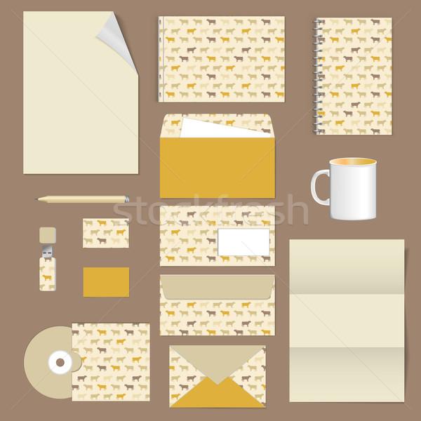 Corporativo identidade artigos de papelaria modelo projeto documentação Foto stock © LittleCuckoo