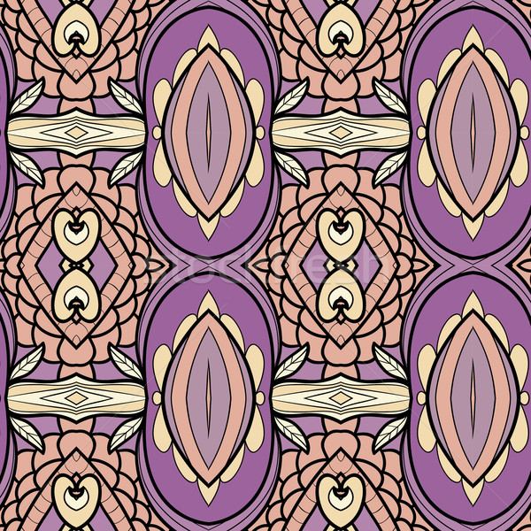 Abstract ornament patroon caleidoscoop effect naadloos Stockfoto © LittleCuckoo