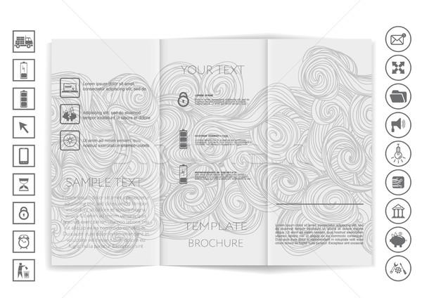 Broşür yukarı vektör dizayn kurumsal iş Stok fotoğraf © LittleCuckoo