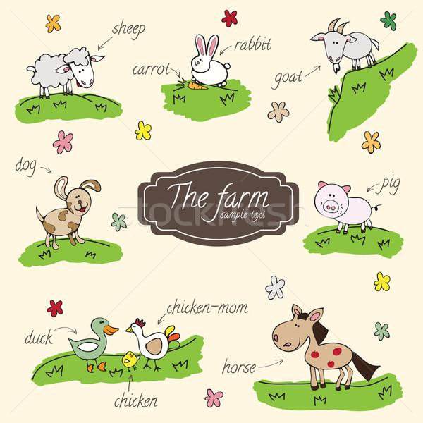 Stock photo: farm animals